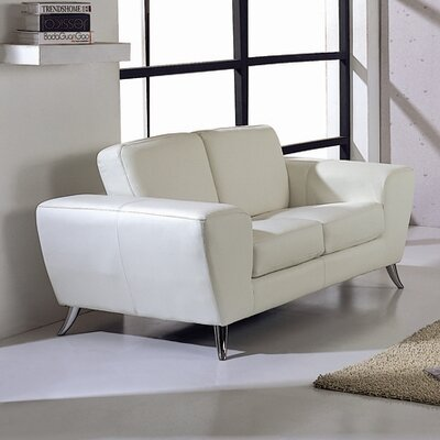 Julie Leather Loveseat by Beverly Hills Furniture