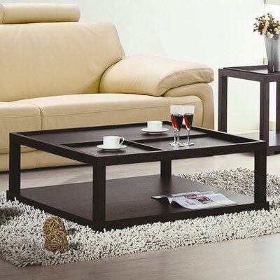 Parson Coffee Table with Removable Tray by Beverly Hills Furniture