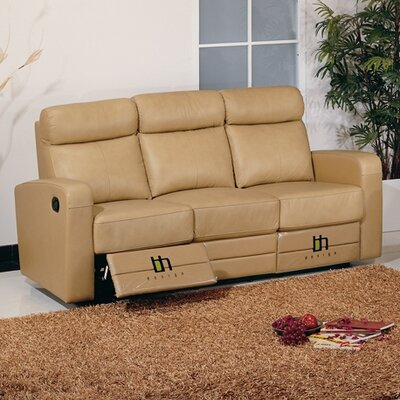 Slope Leather Reclining Sofa by Beverly Hills Furniture