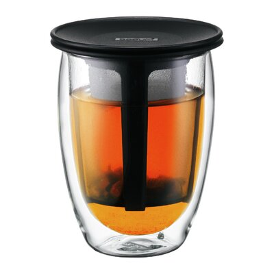 Bodum Teapot for One Double Wall Insulated Tumbler with Strainer