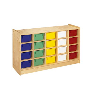 A&E Wood Designs Mobile 20 Compartment Cubby