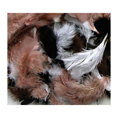 Chenille Kraft Company Assorted Quill Feathers Natural Color