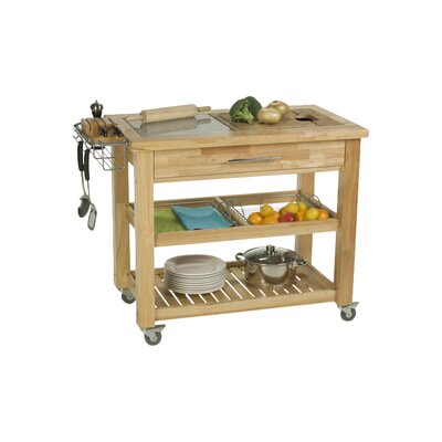 Pro Chef Kitchen Island with Granite Top Product Photo