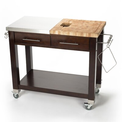 Pro Chef Kitchen Island with Butcher Block Top Product Photo