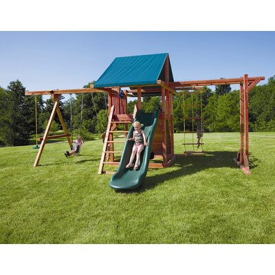 Redwood Grand Stand Swing Set Product Photo