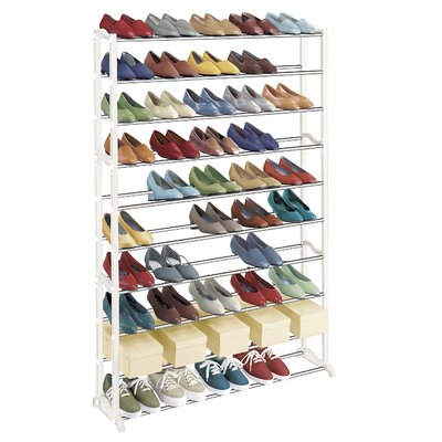 50 Pair 10 Tier Shoe Rack by Lynk
