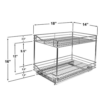"""Lynk® Professional 14"""" x 18"""" Roll Out Double Drawer"""