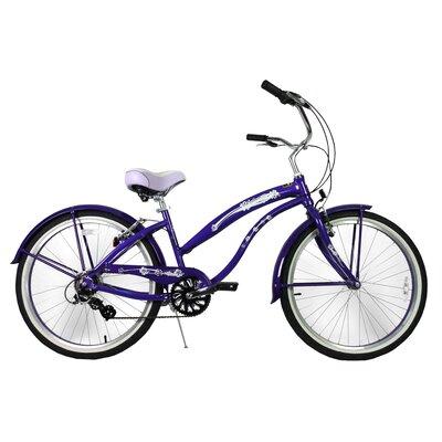 "Greenline Bicycles Ladies 26"" Aluminum 7-Speed Shimano Premium Extended Deluxe Beach Cruiser"
