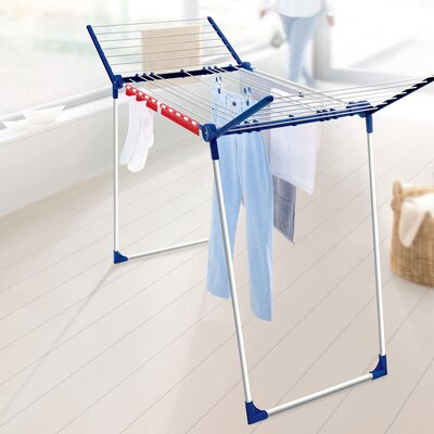 Varioline M Deluxe Winged Clothes Drying Rack with Adjustable Lines by LEIFHEIT