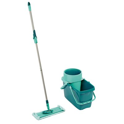 leifheit clean twist xl rectangular mop sweeper set with mop and spin bucket reviews wayfair. Black Bedroom Furniture Sets. Home Design Ideas