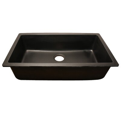 "32.88"" x 18.88"" Single Bowl Granite Composite Rectangle Undermount Kitchen Sink Product Photo"