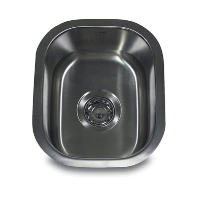 "Nantucket Sinks 15"" x 12.75"" Rectangle Undermount Bar Sink"