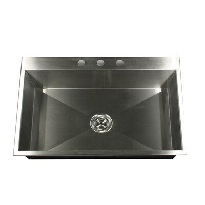 "Nantucket Sinks 33"" x 22"" Self Rimming Single Bowl Kitchen Sink"