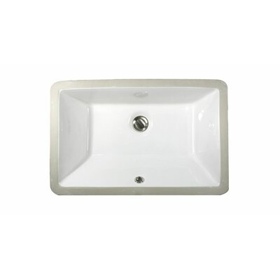 Rectangular Ceramic Undermount Bathroom Sink Product Photo