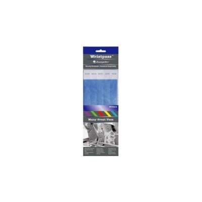 """Baumgartens Security Wrist Band, Tear-Resistant, 10""""x3/4"""", Various Colors Available"""