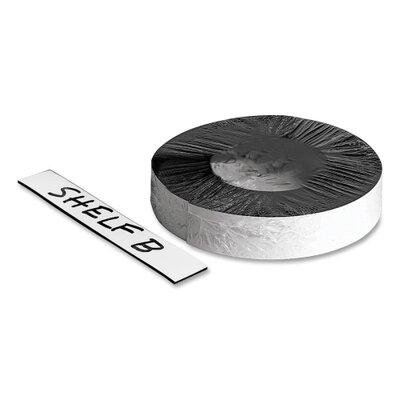 "Baumgartens Magnetic Label Tape, Markable, 50'x1"" Roll, White"