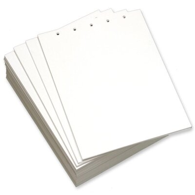 "Domtar Custom Cut Sheets, 5-Hole Top, 8-1/2""x11"", 5 RM/CT, White"