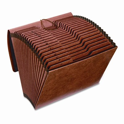 Cardinal Brands, Inc Globe-Weis Accordion Files with Flap, 21 Pockets, 1/3 Tab, Letha Tone, Letter
