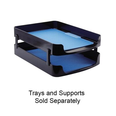 """Officemate International Corp Front Loading Letter Tray, 10-1/4""""x13-5/8""""x2"""", Black"""