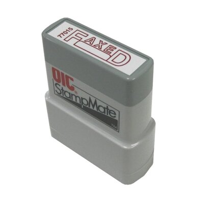 Officemate International Corp Pre-Ink Stamper, Fax/Date