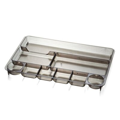 """Officemate International Corp Drawer Tray, 9 Compartmentss, 14""""x9""""x1-1/8"""", Smoke"""