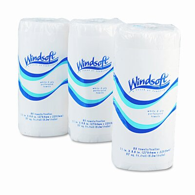 Windsoft Perforated 2-Ply Paper Towels - 85 Sheets per Roll / 30 Rolls