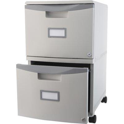 Storex 2-Drawer Mobile Filing Cabinet
