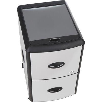 Storex 2-Drawer Mobile Filling Cabinet