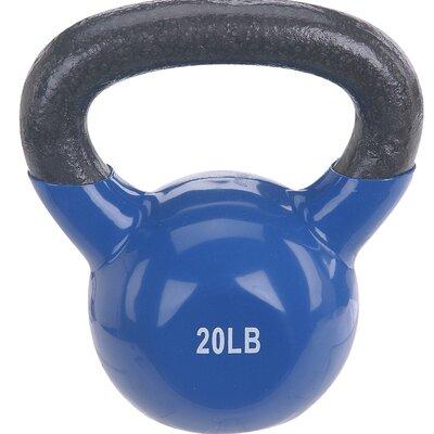 Sunny Health & Fitness 20 lb Vinyl Coated Kettle Bell