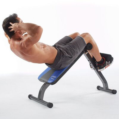 Pure Fitness Crunch Adjustable Ab Bench and Sit-Up