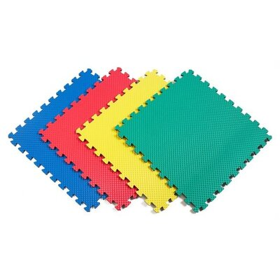 Recyclamat Solid Color Foam Mats in Multi-color (Pack of 4) by Norsk