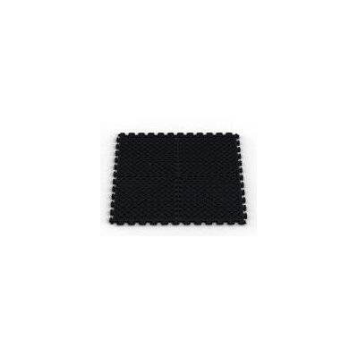 Vented (Drain) Pattern Modular Garage PVC Floor Tile in Black (Pack of 6) by Norsk ...