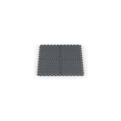 Norsk Floor Vented (Drain) Pattern Modular Garage PVC Floor Tile in Dove Gray (Pack of 6)