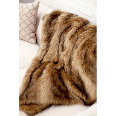 Ibex Faux Fur Throw Blanket by WovenWorkz