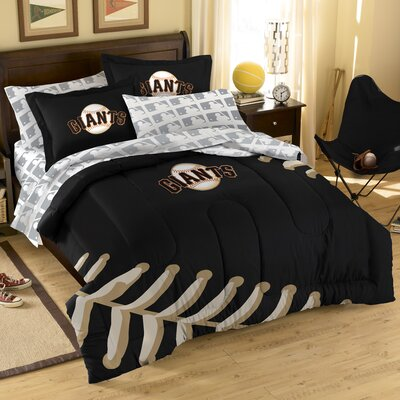MLB San Francisco Giants 7 Piece Full Bed in a Bag Set by Northwest Co. ...
