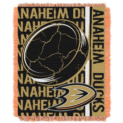 NHL Ducks Double Play Woven Throw by Northwest Co.