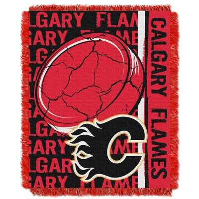 NHL Flames Double Play Woven Throw by Northwest Co.