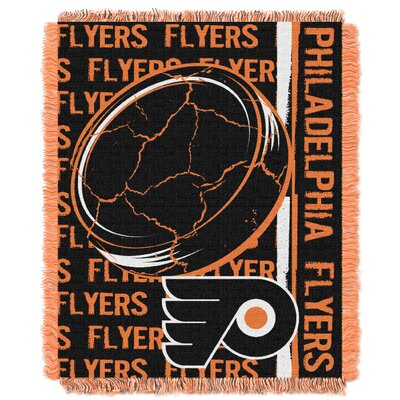 NHL Flyers Double Play Woven Throw by Northwest Co.