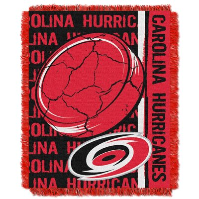 NHL Hurricanes Double Play Woven Throw by Northwest Co.