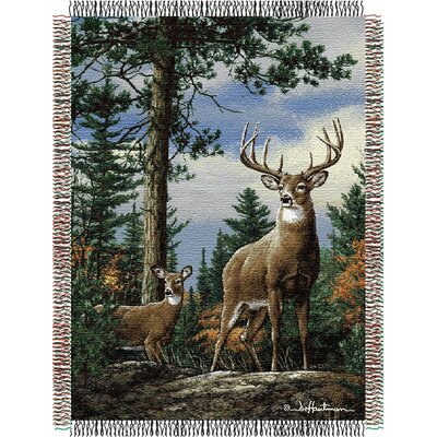 Entertainment Tapestry Hautman Brothers King Stag Throw Blanket by Northwest Co.