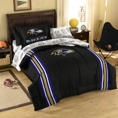 NFL Baltimore Ravens 5 Piece Twin Bed in a Bag Set by Northwest Co.