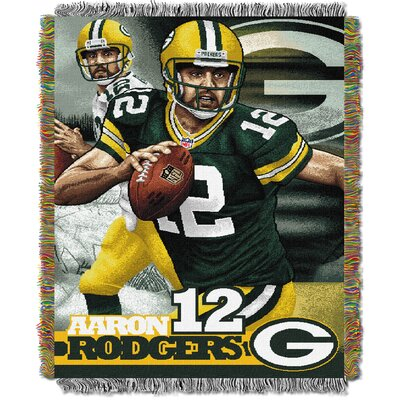 NFL Aaron Rodgers -Packers Player Throw Blanket by Northwest Co.