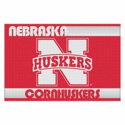 Collegiate Nebraska Old Glory Mat by Northwest Co.