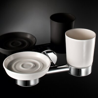 WS Bath Collections Napie Wall-mount Tumbler and Soap Dish