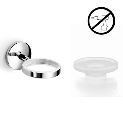 Noanta Self-Adhesive Single Holder with Soap Dish by WS Bath Collections