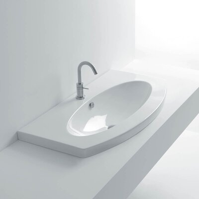 Ago Drop-In Bathroom Sink with Overflow by WS Bath Collections