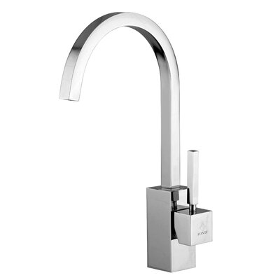 Domino One Handle Single Hole Kitchen Faucet with High Swivel Spout by WS Bath Collections ...