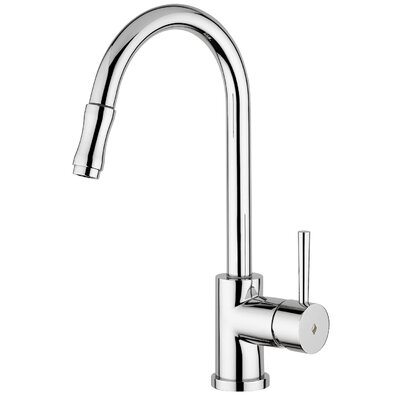 Evo One Handle Single Hole Kitchen Faucet with Pull-Out Spray by WS Bath Collections