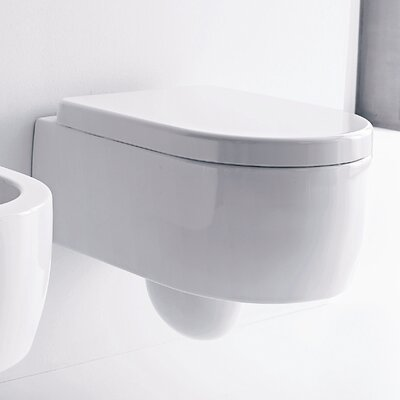 Kerasan Flo Wall Mounted Elongated 1 Piece Toilet Product Photo