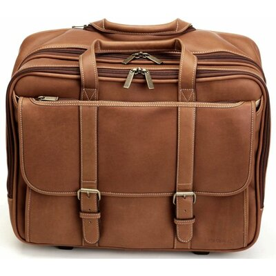 Adventure Deluxe Overnighter Leather Laptop Briefcase by Korchmar